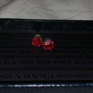 Red sabika earrings